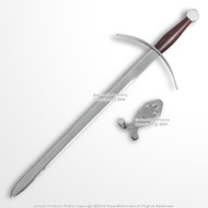 "15.8"" Hand and a Half Knight Mini Long Sword Unsharpen Historic Dagger w/ Hanger"