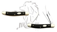 Mastiff Bull Horn Handle Triple Blade Stainless Steel Pocket Folder Knife
