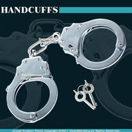 Heavy Duty Police Professional Grade Stainless Steel Chain Double Lock Handcuffs