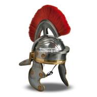 Wearable Roman Imperial Gallic Wearable Roman Imperial Itallic Officer Helmet w/ Red Crest & Liner LARP SCAHelmet  w/ Red Crest & Liner LARP SCA