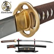 Munetoshi 1075 Competition Samgakdo Korean Sword Hira Zukuri Katana Wide Blade
