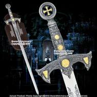 """47"""" Medieval 12th Century Templar Knight Crusader Sword"""