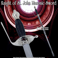 "33 "" Crusader Templar Knight of St. John Masonic Sword"