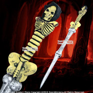 "38"" Halloween Foam Padded Fantasy Skeleton Bone Sword LARP"