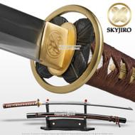 "Skyjiro Taka Chigai Handmade Forge Folded Shinken Samurai Katana Sword 30"" Blade"