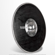 "21"" Functional Viking Norse Wooden Round Shield Steel Boss Reinforced Rim LARP"