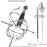 Renaissance Swept Hilt Rapier Fencing Sword