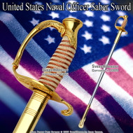 Gold Color US Navy Sword