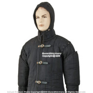 (White or Black) Gambeson Type I Medieval Padded Armour Coat SCA WMA Arming Jacket