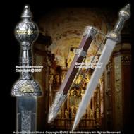 """24"""" Roman Gladius Legion Sword Maximus Gladiator Combat Dagger w/ Ornate Handle"""