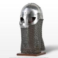 Battle Ready Viking Vendel Helm Spectacle Helmet Chainmail Camail 16G SCA LARP