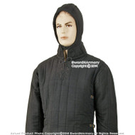 Black S Medieval Gambeson Cloth Type 3 Padded Armour LARP SCA WMA Arming Jacket