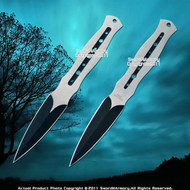 """Set of 2 7.5"""" 440 Stainless Steel Throwing Knife Dart  with Sheath"""