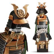 "15.5"" High Oda Nobunaga Shogun Japanese Samurai Armor Miniature Statue"