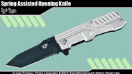 Spring Assisted Open Knife Bounty Hunter Folder Silver Handle