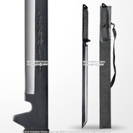 "27"" Ninja Straight Shinobi Sword Black Blade Machete with Shoulder Strap"