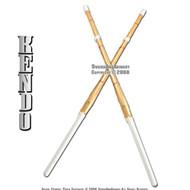 """Set of 2 44"""" Kendo Shinai Bamboo Practice Sword Katana"""