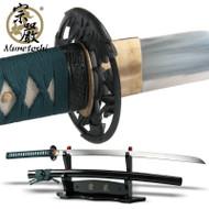 Munetoshi Hira Zukuri Handmade Sword Katana Mat Cutter 1075 Spring Steel Razor
