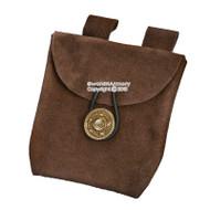 Medieval Renaissance Fair Costume Suede Leather Carry Pouch Satchel Bag LARP SCA
