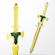 "Licensed Anime Sword Art Online 41.75"" Yellow Holy Sword Excalibur Alfheim Kirito Blade"