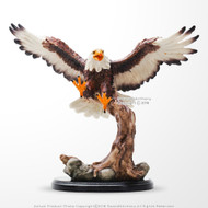 "Flying Bold Eagle Gift Desk Ornament Decoration Sculpture w/ 13"" Dagger Letter Opener"