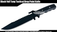 Full Tang Fixed Blade Tactical Knife Drop Point Dagger