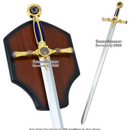 "45"" Masonic Ceremonial Sword Templar Knight Freemasonry"