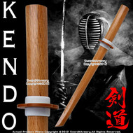 "22"" Wooden Practice Sword Wakizashi Bokken Bokuto Kendo Kata Natural Wood Color"