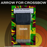"12 PCS 6.5"" 50LBS Aluminum Crossbow Bolt Arrows"