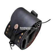 Medieval Renaissance Fair Costume Leather Belt Pouch Sachet Bag Pirate SCA LARP