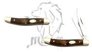 "6"" Mastiff Trapper Wooden Handle Triple Blades Gentleman Folding Pocket Knife"