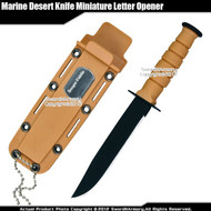 Classic Marine Desert Knife Replica Letter Opener Size Dagger with Name Plate