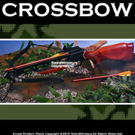 150 lbs Recurve Hunting Crossbow Wooden Stock + 2 Bolts 1