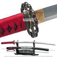 Skyjiro Hota-Tegai Scallop 1070 Forge Folded Steel Samurai Katana Sword