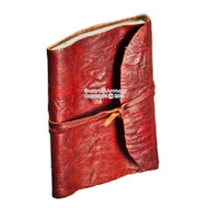 Handmade Red Genuine Leather Journal Cruse Style Medieval Renassiance Diary