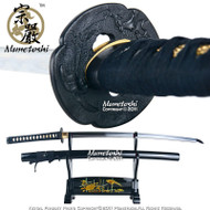 Handmade Munetoshi Mokko T10 Iaido Katana Samurai Sword Black Factory Second