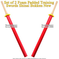 Set of 2 Foam Padded Training Swords Shinai Bokken 2