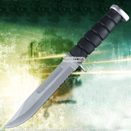 "11.5"" Marine Style Combat Knife Full Tang Blade Serrated 1"