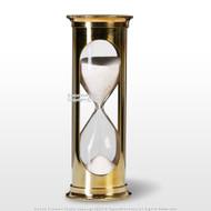 """6"""" Brass Handmade 5 Min Sand Timer Clock Maritime Hourglass Time Art Decor Gift"""