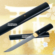Black Shirasaya Handmade Tanto Samurai Sword Very Sharp