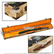 "44"" Long Deluxe Brocade Locking Storage Carrying Case For Samurai Katana Sword"