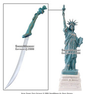 "12"" Tall Statue of Liberty with Letter Opener Great Gift New York Souvenir"