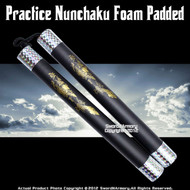 "11"" Kid Size Dragon Foam Nunchucks Martial Art Karate Practice Training Nunchaku"
