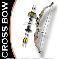 "Taiwan Made 20 LBS Camo Youth Compound Bow 23-28"" Draw Right Handed w/ 2 Arrows"