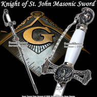 Templar Knight of St. John Crusader Mason Masonic Sword 1