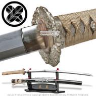 Skyjiro Emperor Forge 1085 1055 Folded Steel Samurai Katana Sword Clay Tempered
