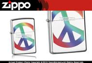 Rainbow Peace Symbol Zippo Lighter Brand New 24475