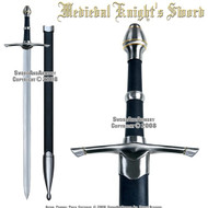 "Medieval Long Sword Knight's Sword ""Chivalry"" Golden Ring"