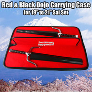 "Red & Black Dojo Carrying Case for 19"" Sai Set Martial Arts Weapons"
