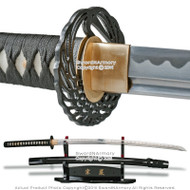 Munetoshi Iaito Sword Samurai Training Katana Unsharpened with Crane Tsuba